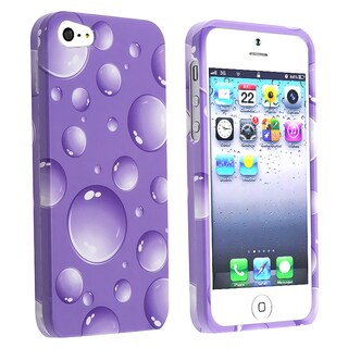 BasAcc Purple Bubbles Snap-on Case for Apple� iPhone 5