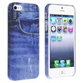 BasAcc Blue Jean Rear Snap-on Rubber Case for Apple iPhone 5