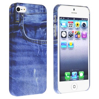 BasAcc Blue Jean Rear Snap-on Rubber Case for Apple� iPhone 5/ 5S