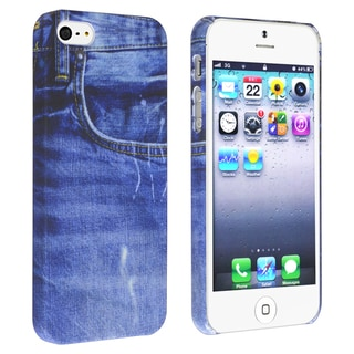BasAcc Blue Jean Rear Snap-on Rubber Case for Apple� iPhone 5