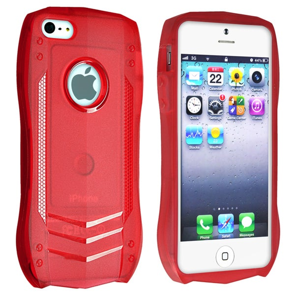 INSTEN Red Sports Car TPU Rubber Skin Phone Case Cover for Apple iPhone 5/ 5S