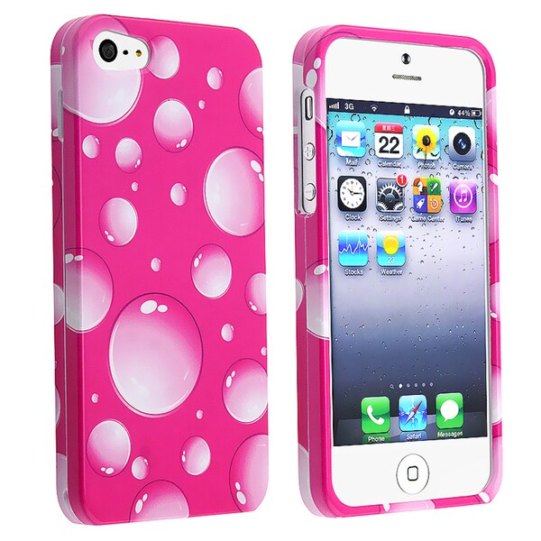 BasAcc Pink Bubbles Snap-on Case for Apple® iPhone 5