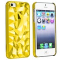 BasAcc Clear Yellow Diamond Cut Snap-on Case for Apple iPhone 5