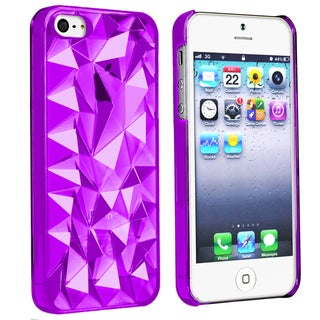 BasAcc Clear Purple Diamond Cut Snap-on Case for Apple� iPhone 5/ 5S