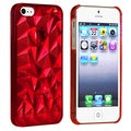 BasAcc Clear Red Diamond Cut Snap-on Case for Apple iPhone 5