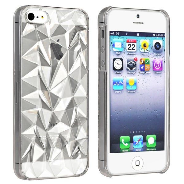 BasAcc Clear Diamond Cut Snap-on Case for Apple® iPhone 5