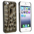BasAcc Clear Smoke Diamond Cut Snap-on Case for Apple iPhone 5