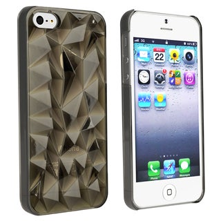 BasAcc Clear Smoke Diamond Cut Snap-on Case for Apple� iPhone 5