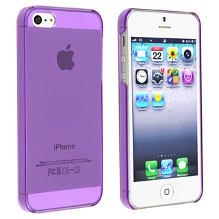 INSTEN Clear Purple Snap-on Slim Phone Case Cover for Apple iPhone 5/ 5S