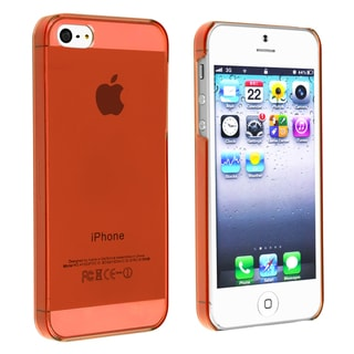 BasAcc Clear Red Snap-on Slim Case for Apple� iPhone 5