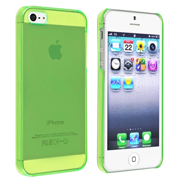 INSTEN Clear Green Snap-on Slim Phone Case Cover for Apple iPhone 5/ 5S