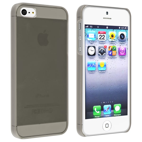 INSTEN Clear Smoke Snap-on Slim Phone Case Cover for Apple iPhone 5/ 5S