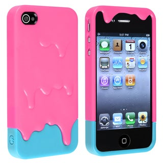 BasAcc Pink/ Blue Ice Cream Snap-on Case for Apple� iPhone 4/ 4S