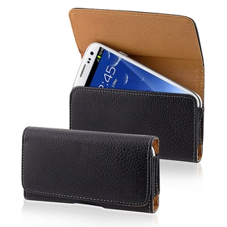 BasAcc Black Leather Case for Samsung Galaxy S III/ S3 i9300
