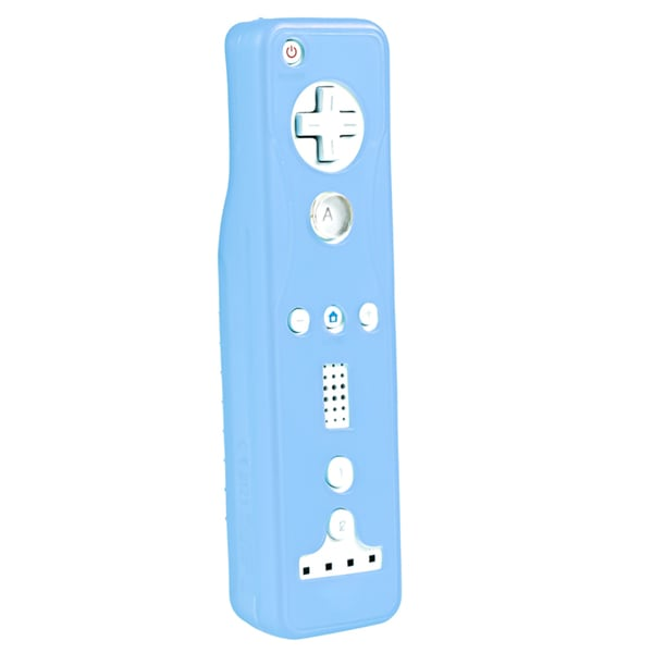 INSTEN Blue Soft Silicone Skin Case Cover for Nintendo Wii Remote Controller