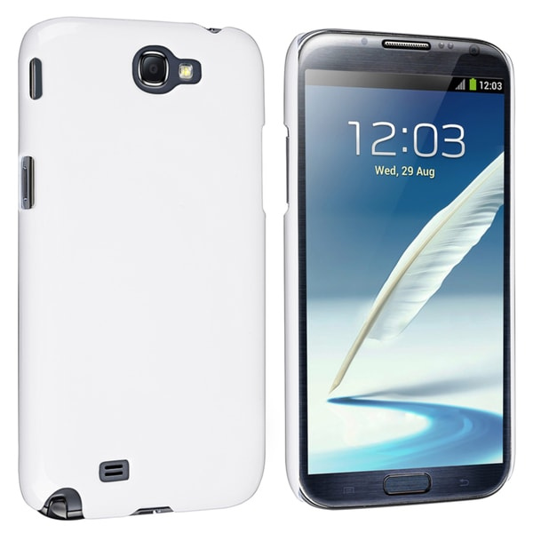 INSTEN White Snap-on Phone Case Cover for Samsung Galaxy Note II N7100