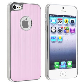 BasAcc Light Pink Brushed Chrome Aluminum Rear Case for Apple iPhone 5