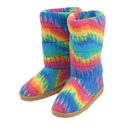 Women's Beeposh Rainbow Boot Slippers Rainbow