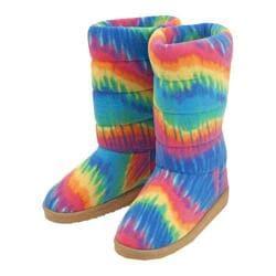 Women's Beeposh Rainbow Boot Slippers Rainbow
