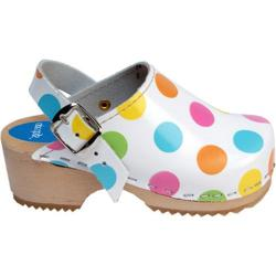 Girls' Cape Clogs Dots White/Multi