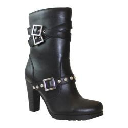Women's Ride Tecs 3-Buckle Biker Boot Black