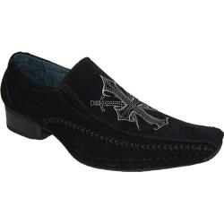 Men's Giorgio Baccini Passion 4 Suede Look Shoes Black