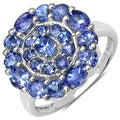 Malaika Sterling Silver 1 7/8ct TGW Tanzanite Circle Ring