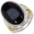 Malaika Sterling Silver 10 7/8ct TGW Black Onyx Ring