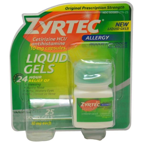 Zyrtec Antihistamine10mg Liquid Gels (25 Count)