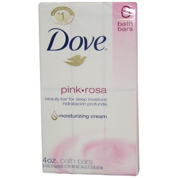 Dove Pink Rosa Bath Bar Soap (Pack of 6)