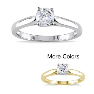 Miadora 14k Gold 1/2ct TDW Diamond Solitaire Engagement Ring (H-I, I2-I3)