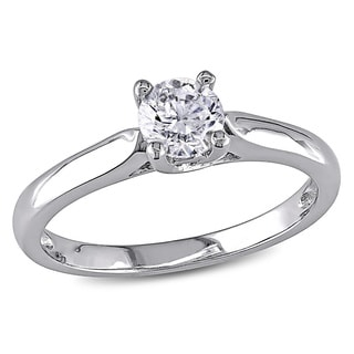 Miadora Signature Collection 14k Gold 1/2ct TDW Diamond Solitaire Engagement Ring (H-I, I2-I3)