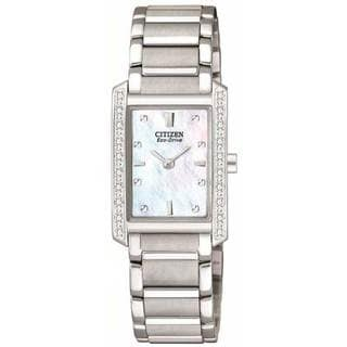 Citizen Women's Stainless Steel Eco-Drive Palidoro Diamond Watch