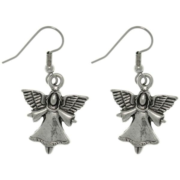 CGC Pewter Heavenly Angel Dangle Earrings