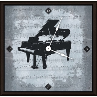 Ankan 'Vintage Piano' Framed Clock Art