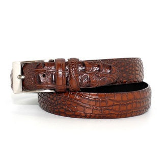 Toneka Men's Alligator Embossed Faux-leather Belt