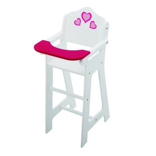 The New York Doll Collection Wooden White Doll High Chair
