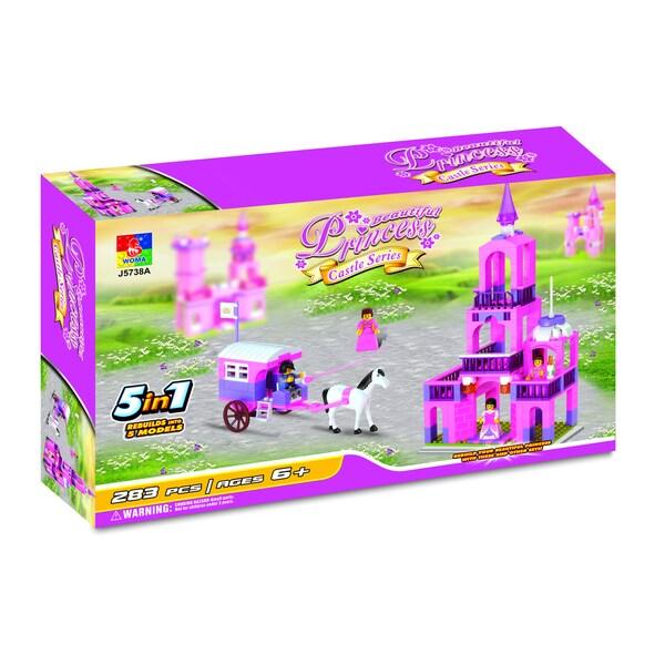 Fun Blocks Beautiful Princess Castle Brick Set (5-in-1)