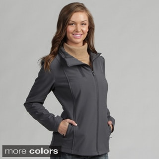 Larry Levine Women's Active Fleece Lined Soft Shell Jacket