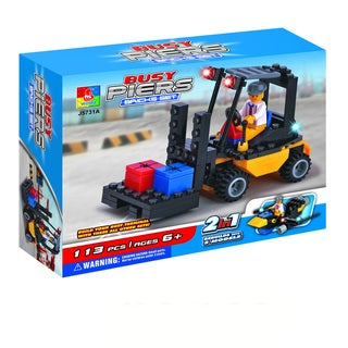 Fun Blocks Forklift 2-in-1 Brick Set