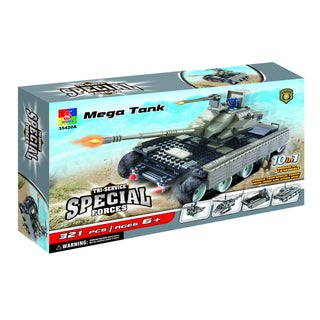 Fun Blocks Mega Tank Military 10-in-1 Brick Set