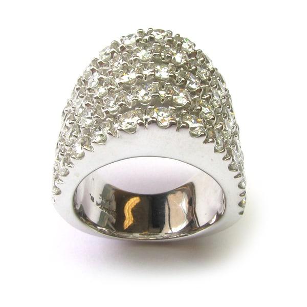 Sonia Bitton 14k Gold 4 1/2ct TDW Designer Pave Diamond Ring (G-H, SI1-SI2)