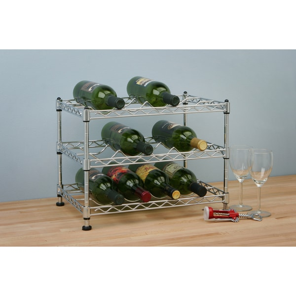 Seville Zinc 12-bottle Stackable Wine Rack