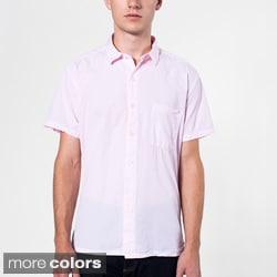 American Apparel Men's Italian Cotton Short Sleeve Button-Up