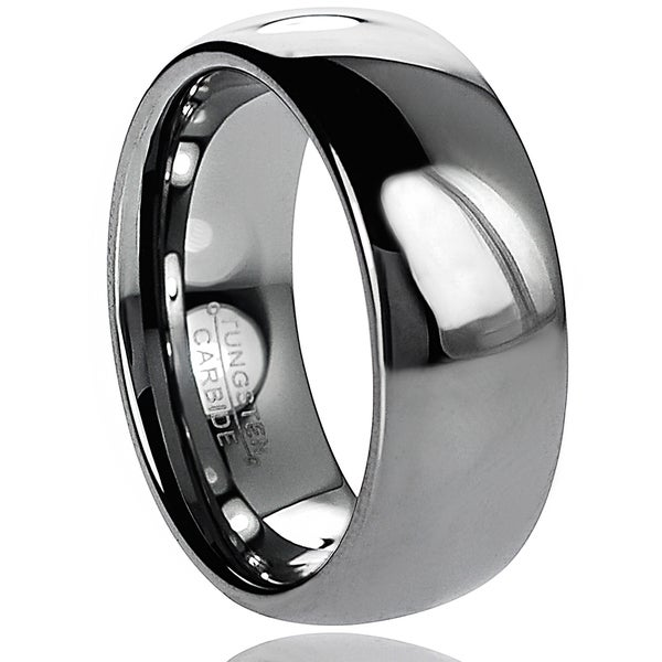 Vance Co. Men's Tungsten Carbide Polished Domed Band (8 mm)