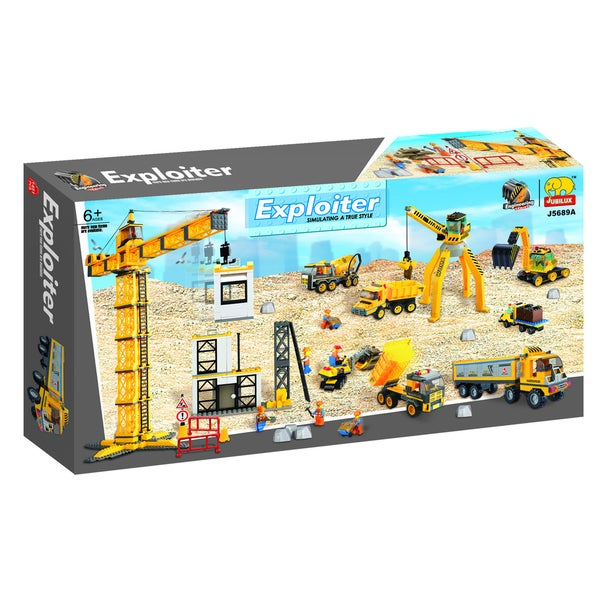 Fun Blocks Construction Site 1425-piece Brick Set