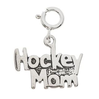 Sterling Silver Hockey Mom Charm
