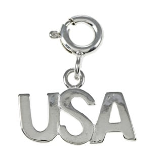 Sterling Silver 'USA' Charm