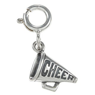 Sterling Silver 'Cheer' Megaphone Charm