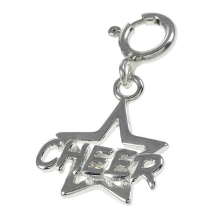 Sterling Silver Cheer Star Charm
